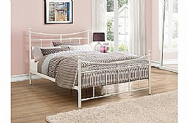 Emily Metal Bed Frame (Cream) - Birlea Furnishings