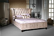 Epsilon Bed Frame (Mink Velvet Fabric) - Limelight Beds