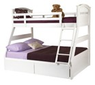 Epsom 3 Sleeper Bunk Bed (White) - Sweet Dreams