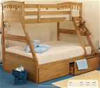 Epsom 3 Sleeper Bunk Bed (Oak finish) - Sweet Dreams
