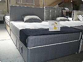 Eton 2 Drawer Fabric Divan Set with Matching Headboard