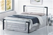 Faro Bed Frame (Silver/Black) - Birlea Furniture