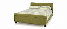Hazel Bed Frame (Olive Colour Fabric) - Serene