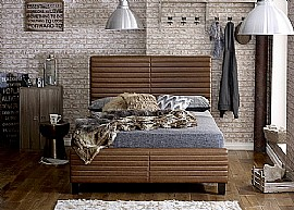 Himalia Leather Bed Frame (Tan) - Limelight Beds