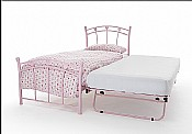 Jemima Single Bed & Guest Bed (Pink Gloss) - Serene Furnishings