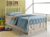 Jessica Single Metal Bed Frame (Cream) - Birlea Furniture