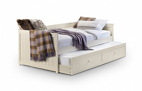 Jessica Daybed With Hidden Guest bed (Stone White Finish) - Julian Bowen