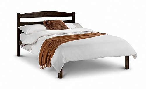 Jude Wooden Bed Frame (Stained Wenge/Dark Brown Finish) - Julian Bowen