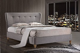 Kensington Fabric Bed Frame (Grey) - Birlea