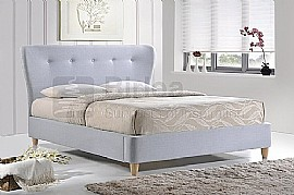 Kensington Fabric Bed Frame (Sky Blue) - Birlea