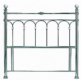 Krystal Antique Nickel Headboard - Bentley Designs
