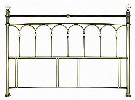 Krystal Antique Brass Headboard - Bentley Designs