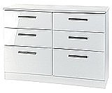 Clearance Ex-Display Knightsbridge Cream/White 6 Drawer Midi Chest - �139