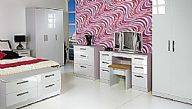 Knightsbridge (White) High Gloss Bedroom Range - Welcome Furniture