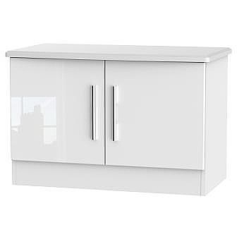 Clearance Ex-Display LIV203 Living Low 2 Door Unit Gloss White - �85