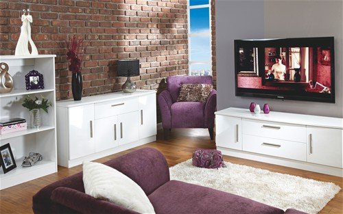 Living Room Range (White High Gloss)- More Options available - Welcome Furniture