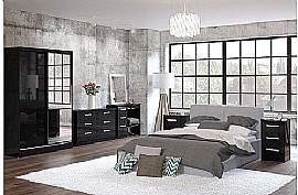 Lynx (Black Gloss) Bedroom Furniture Range - Birlea Furniture Ltd
