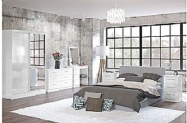 Lynx (White Gloss) Bedroom Furniture Range - Birlea Furniture Ltd