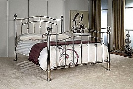 Lyra Bed Frame (Shiny Chrome) - Limelight