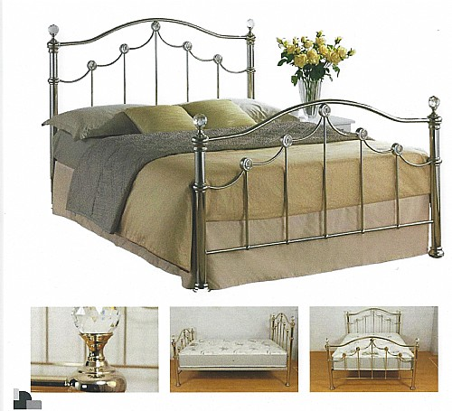 Latina Metal Bed (Chrome Effect) - Ambers International