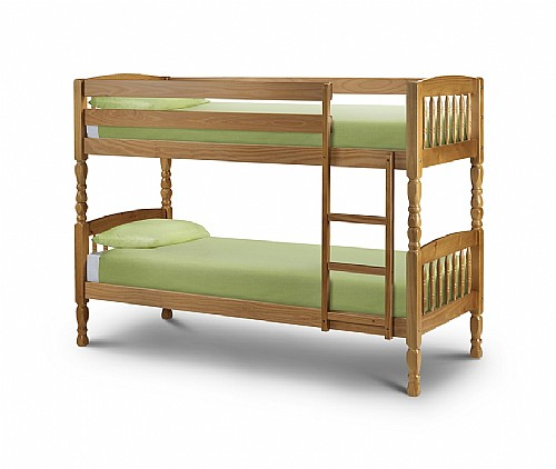 Lincoln Pine Bunk Bed - 2 Width Sizes available  - Julian Bowen