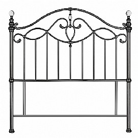 Elena Metal Headboard (Black Nickel) - Bentley Designs
