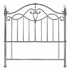 Elena Metal Headboard (Shiny Nickel) - Bentley Designs