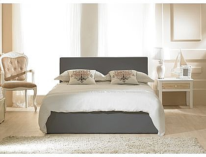 Madrid Ottoman Bed (Grey Faux Leather) Emporia