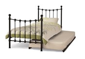 Marseilles Metal Bed & Guest Bed (Black) - Serene Furnishings