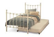 Marseilles Single Metal Bed & Guest Bed (Ivory) - Serene Furnishings