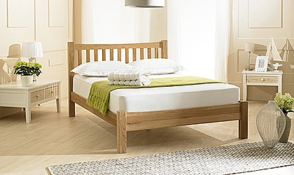 Milan Solid Oak Bed - EB
