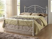 Milano Bed Frame (Cream & Brass) - Birlea Furniture