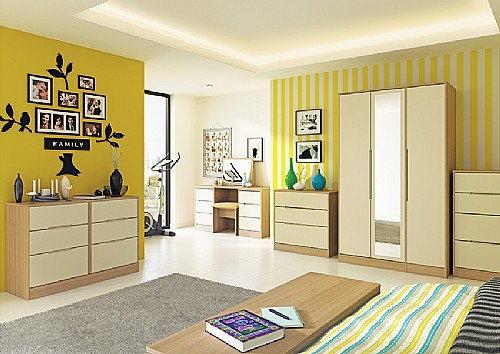 Monaco Natural Cream Bedroom Furniture (14 Combinations available) - Welcome Furniture