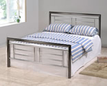 Montana Bed Frame (Chrome & Nickel) - Birlea Furniture