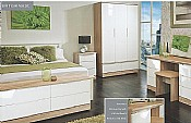 Montego Bay (White High Gloss & Oak) - Welcome Furniture