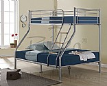 Nexus Triple Sleeper Bunk Bed (Silver) - Birlea Furniture
