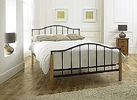 Neptune Matt Black Bed Frame (Metal & Wood) - Limelight Beds