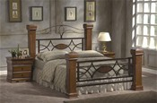 Omega Oak finish Bed Frame - Ambers International