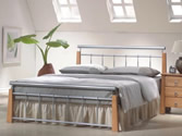 Ontario Bed (Beech & Silver) - Ambers International