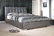 Ophelia Bed Frame (Slate Waffle Fabric) - Limelight Beds