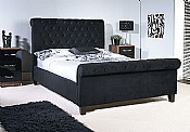 Orbit Bed Frame (Black Velvet) - Limelight Beds