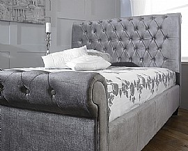 Orbit Bed Frame (Plush Silver Velvet) - Limelight