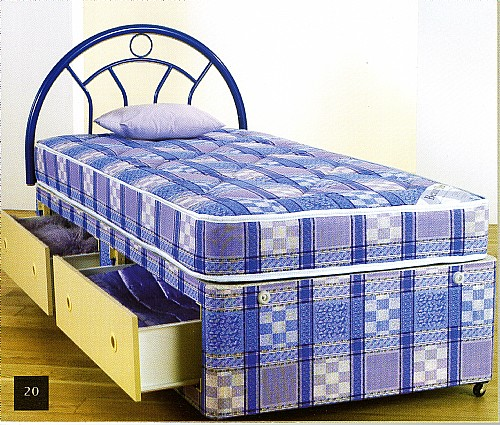 Oxford Light Quilted Divan Bed  (Soft) - Economy Range - MA