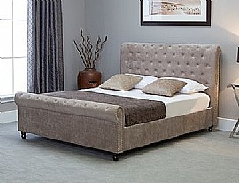 Oxford Scroll Ottoman Bed Frame (Natural Stone) - Emporia