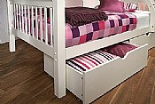 Pavo Underbed Drawers  (White) - Limelight