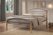 Pegasus Bed Frame (Silver/Wood) -   Limelight Beds
