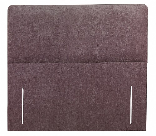 Palermo Floor Standing Headboard (Faux Suede in Chocolate/Coffee & Stone) - Sweet Dreams
