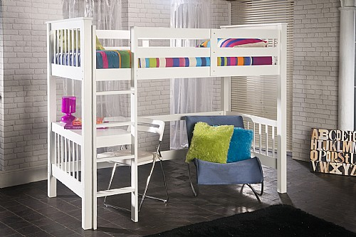 Pavo Study Bunk Bed (White) - Limelight Beds