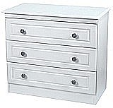Clearance Ex-Display Pembroke White 3 Drawer Chest - �70