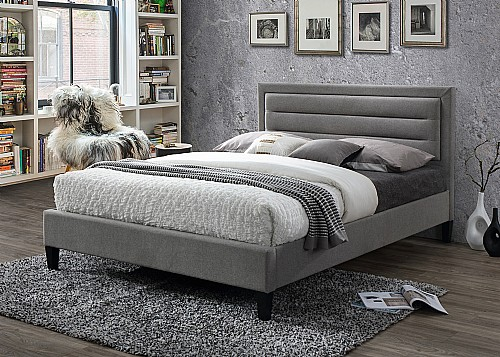 Picasso Fabric Bed (Grey Marl) - Limelight Beds